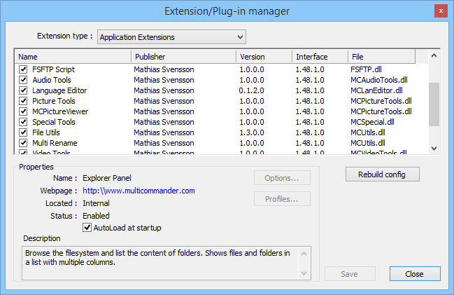 Extensions and Plug-ins | Multi Commander
